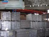 批发折迭仓储笼带轮子仓库笼标准网格笼厂家