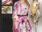 2015 新品 重磅 数码喷绘 真丝布料 面料 桑蚕丝 弹力缎 服装料