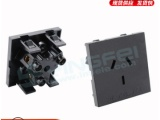 美式大三脚美标插座15A电源卡式插座美规两孔机柜插座