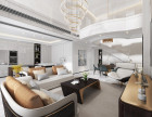 万科御澜道300平米空中别墅装修轻奢风格设计方案效果图