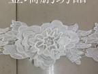 厂家直销 现货供应 水溶花边涤光条码 两层花连条衣服装饰蕾丝