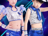 新款节日儿童舞蹈服男女童街舞服装爵士舞蹈服装少儿现代舞表演服