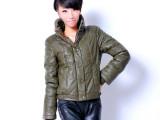2013冬装新款芭莎诺瓦精品女装短款修身PU休闲小棉衣加厚外套特