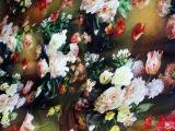 【武汉旺旺丝绸行】114cm 电脑喷绘真丝素绉缎 旗袍唐装时装面