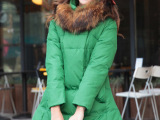 2013冬季糖果色娃娃装时尚 中长款韩版羽绒服显瘦辣妈