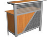 折叠接待桌、形象桌、前台、 咨询桌、资料发放台、拆卸形象桌