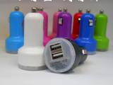 新款奶嘴双USB车充 **苹果手机车载充电器 多功能汽车充电器