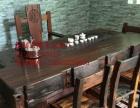 延安市老船木家具茶桌椅子沙发茶台茶几办公桌餐桌鱼缸置物架案台