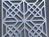 酒店外立面铝合金花格,装饰金属仿木格栅