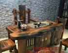 广元实木家具办公桌茶桌椅子老船木客厅家具沙发茶几茶台餐桌案台
