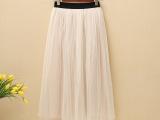 一件代发2015新款夏长裙过膝半身裙长款韩版网纱显瘦蓬蓬裙