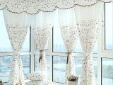 厂家直销棉麻高档白色绣花卧室小清新窗帘布料支持尺寸定制代发