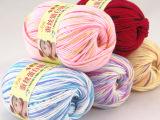 蚕丝蛋白绒线婴儿儿童线 宝宝绒毛线纯棉线 中细毛线 正品批发