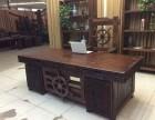 老船木实木大办公台老板桌写字台主管桌书法班台桌会议桌办公家具