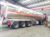 个人急售半挂油罐车 40吨铝罐运油车 铝合金油罐车低价