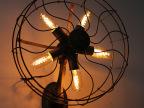 复古餐厅客厅卧室床头美式乡村简约个性创意工业电风扇壁灯 现货
