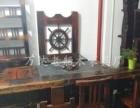 延边船木茶桌茶台茶几批发实木中式功夫泡茶桌椅组合