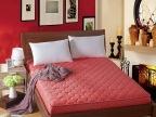 结婚婚庆夹棉床笠床垫席梦思保护垫红色南通家纺床品厂家贴牌批发