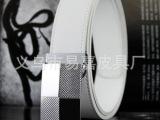 厂家批发订做2012年新款奢华经典平滑扣男士真皮皮带