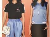 一线大牌太平鸟夏装女装品牌折扣批发广州统衣服饰一手货源出货