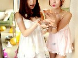 2014夏季新款日系甜美可爱V领花瓣吊带睡衣+短裤两件套家居服批