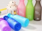 磨砂优质塑料便携摔不破汽水瓶 密封水杯550 水壶 可定制 印L