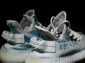 阿迪达斯Adidas椰子Yeezy350V2蓝斑马