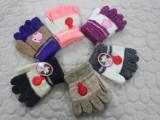 批发儿童五指手套 儿童3-6岁手套 儿童马海毛手套批发 儿童手套