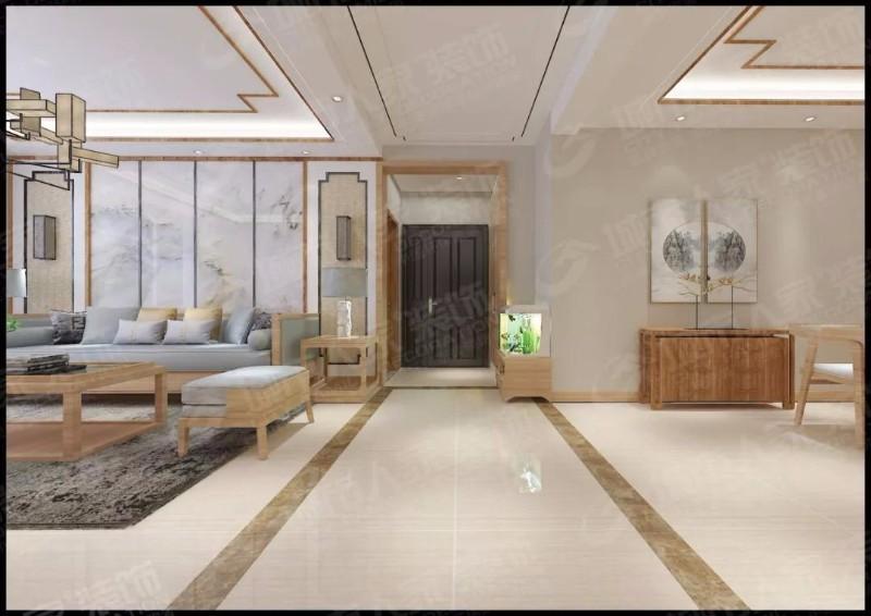华福家苑160平米新中式风格设计案例-呼和浩特城市人家装饰