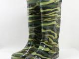 厂家直供 3517 迷彩 加厚 高筒 透明劳保雨鞋 特种工矿雨靴