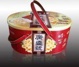 山东铁盒包装厂家供应提手马口铁盒包装 食品异形铁盒包装