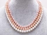 厂家直销AAAA级诸暨山下湖正品天然淡水珍珠项链强光无瑕近正圆形