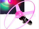 拉线飞碟发光飞碟UFO大号飞盘拉线儿童闪光玩具三灯发光飞碟