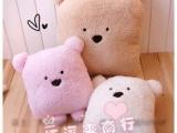 供应 毛绒玩具新版可爱豆豆熊小方熊 午休枕 汽车抱枕  靠垫