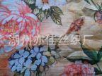厂家生产丝麻面料 真丝加亚麻布料 平纹麻类面料印花