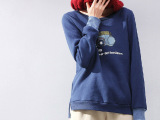 【慕慕思琪】2015新款加绒套头卫衣女 春秋学院风长袖潮  爆款