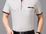 中老年男装夏季新款男士T恤翻领宽松休闲衣服短袖爸爸装