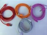 苹果6一体头编织数据线1米2米3米 Iphone6编织线 编织线