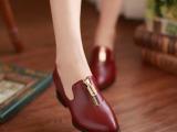 2013春夏新品女鞋欧美英伦风粗跟低帮中跟单鞋韩国舒适T