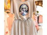 5671爆版女装韩国代购夏装蝙蝠袖+波点雪纺两件套连衣裙