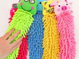 雪尼尔动物头擦手巾 挂式可爱 珊瑚虫毛巾 手帕 除尘 吸水毛2.