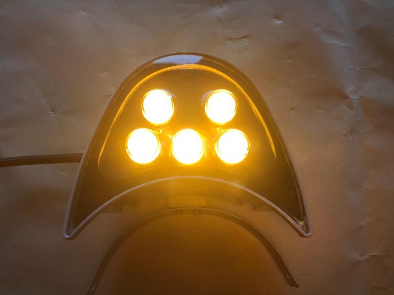 LED蹄月瓦楞灯瓦片灯射灯5W