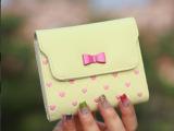 2014新款短钱包卡包韩版时尚零钱包糖果色三折短款钱包女 爆款