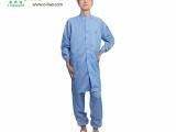 凌亦浩厂家供应防静电条纹大褂无尘室洁净工作服