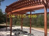 嘉兴木纹漆施工 景区专用廊架仿木纹漆施工 钢结构木纹漆