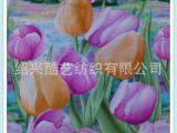 全棉印花布面料  郁金香花型面料