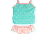 外贸童泳衣女童裙式防晒分体泳衣婴童幼童宝宝卡通多工艺童泳衣