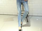 2015韩版新款牛仔女裤 小脚裤铅笔裤百搭显瘦弹力裤 一件起批
