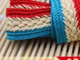 厂家直销 25MM/2.5CM三色全棉线条码提花边编织布条 窗帘