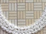 雪纺盘花,网布盘花,三合一